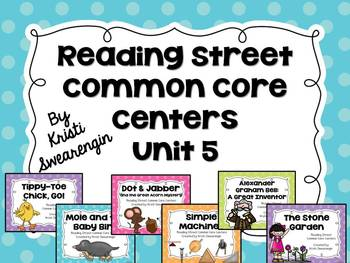 Reading Street Common Core Centers Unit 5 (First Grade)