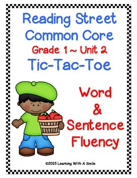 Reading Street FIRST GRADE FLUENCY Unit 2: TIC-TAC-TOE Game