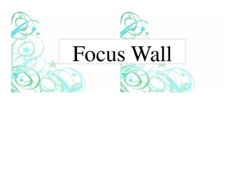 Reading Street Common Core Focus Wall (Editable)
