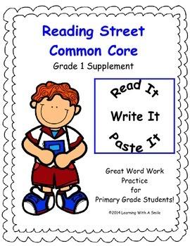 Reading Street First Grade Spelling Units 1-5 Read, Write,
