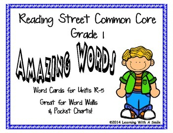 Reading Street Common Core Grade 1 AMAZING WORDS for Word