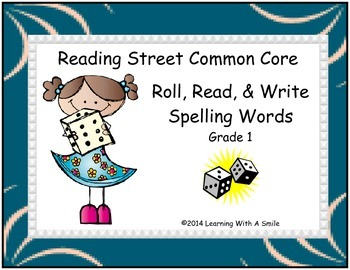 Reading Street 1st Grade Units 1-5  Word Game ~ Roll, Read