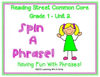 Reading Street Common Core First Grade Unit 2 Fluency Game