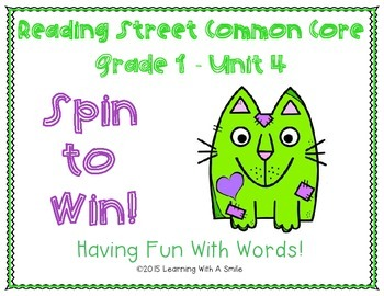 Reading Street Common Core ~ Grade 1 ~ Spin to Win! ~ Unit