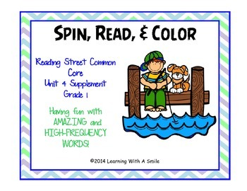 Reading Street Common Core GRADE 1 Spin, Read, & Color  Am