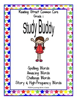 Reading Street Common Core GRADE 1~ Take Home Word Lists