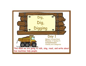 Dig Dig Digging Flipchart Days 1-5 Reading Street