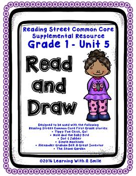 Reading Street FIRST GRADE Read & Draw UNIT 5 ~ No-Prep Li