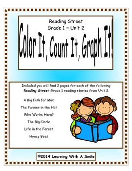 Reading Street FIRST GRADE Unit 2  - Color It, Count It, G