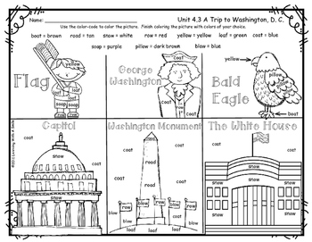 Reading Street FREEBIE First Grade: A Trip to Washington,