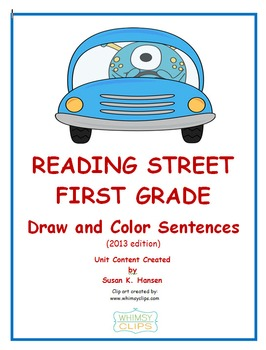 Reading Street First Grade Draw and Color the Sentences