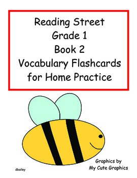 Reading Street First Grade Book 2 Vocabulary Flashcards fo