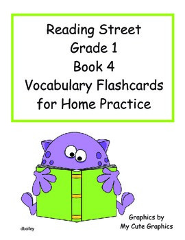 Reading Street First Grade Book 4 Vocabulary Flashcards fo