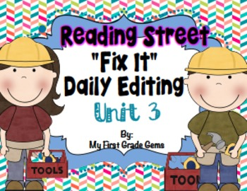 Reading Street First Grade Editing Booklet - Unit 3