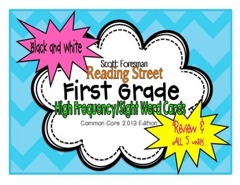 Reading Street First Grade High-Frequency (Sight) Words in