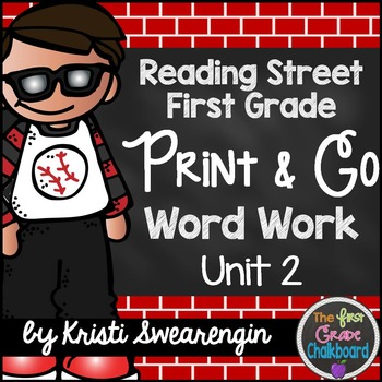 Reading Street First Grade Print and Go Word Work Centers Unit 2