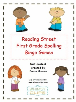 Reading Street First Grade Spelling Bingo Games