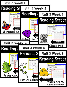 Reading Street. First Grade. Unit 3 Bundle Centers/Worksheets