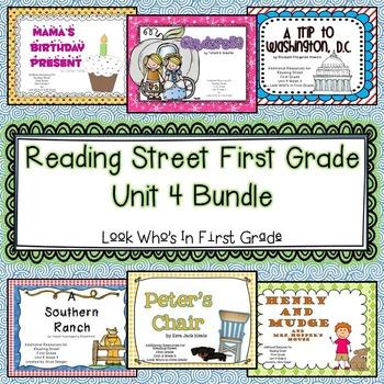 Reading Street First Grade Unit 4 Bundle