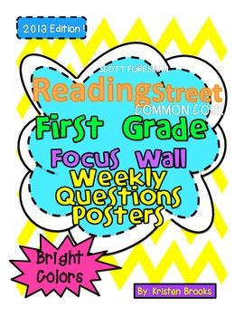 Reading Street First Grade Weekly Question Posters (Bright
