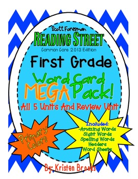 Reading Street First Grade Word Card MEGA pack! (Primary C