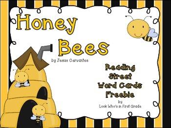 "Reading Street First Grade Word Cards FREEBIE  ""Honey Bees"""