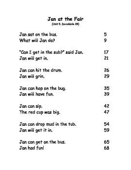 Reading Street Fluency Passages: Kindergarten (Units3-6)