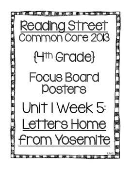 Reading Street Focus Board Posters: 4th Grade Unit 1 Week