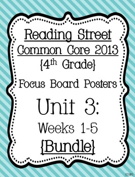 Reading Street Focus Board Posters: 4th Grade Unit 3 Weeks