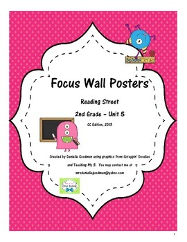 Reading Street Focus Wall Posters Grade 2, Unit 5 CC Edition 2013