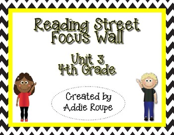 Reading Street Focus Wall - Unit 3 (4th Grade, ALL CONTENT!)
