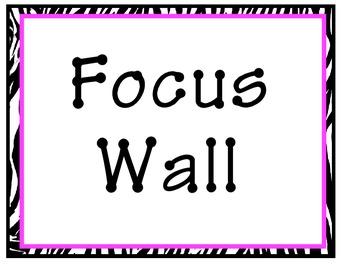 Reading Street Focus Wall(Pink Zebra)