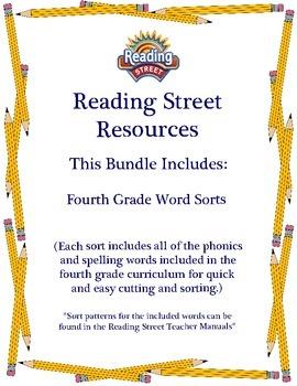 Reading Street - Fourth Grade Word Sorts