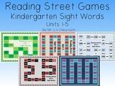 Reading Street Games Supplemental Resource - Kindergarten