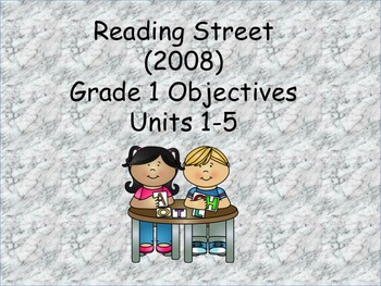 Reading Street Grade 1 (2008) Objectives and common core s