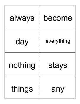Reading Street- Grade 1- Unit 3 High Frequency Word Cards