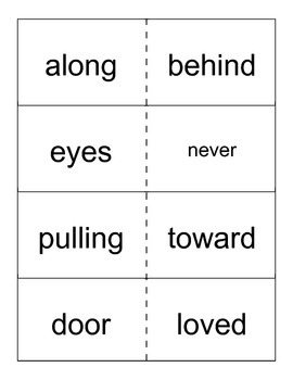 Reading Street- Grade 1- Unit 5 High Frequency Word Cards
