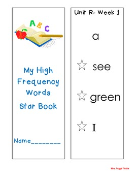 Reading Street- Grade 1- Unit R- HF Star Booklet