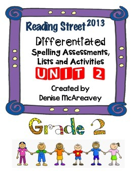 Reading Street Grade 2 UNIT 2 Differentiated Spelling BUNDLE
