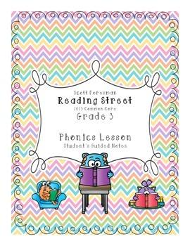Reading Street Grade 3 Unit 1 Phonics Lessons : Student Gu