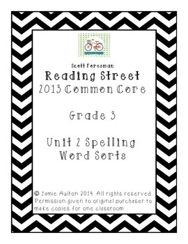 Reading Street Grade 3 Unit 2 Word Sort