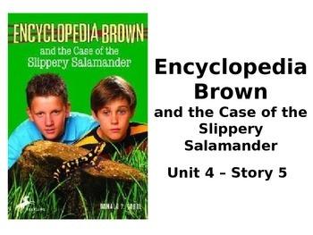 Reading Street Grade 4 Encyclopedia Brown Spelling PowerPoint