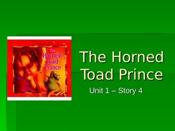 Reading Street Grade 4 The Horned Toad Prince Spelling PowerPoint