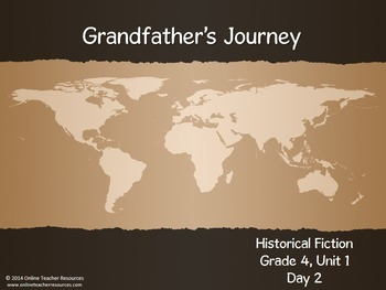 Reading Street Grade 4 Unit 1 Grandfather's Journey Common Core