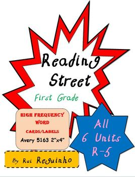 Reading Street - HFW for All Units R-5 - Avery 5163 labels