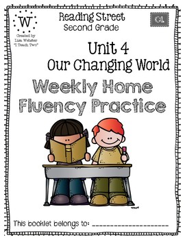 Reading Street Home Fluency Book Unit 4 Our Changing World