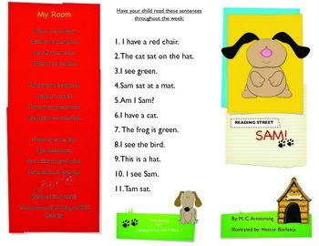 Reading Street- Informational trifold for Sam!