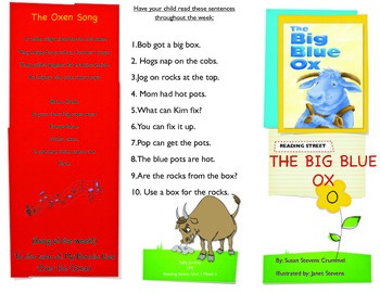 Reading Street- Informational trifold for The Big Blue Ox!