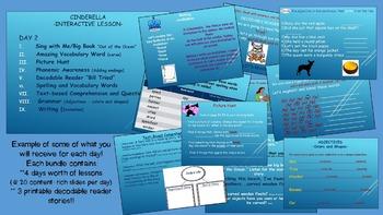 Reading Street Interactive Lessons (4 days) - Cinderella -