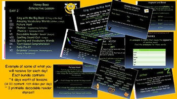 Reading Street Interactive Lessons (4 days) - Honey Bees -